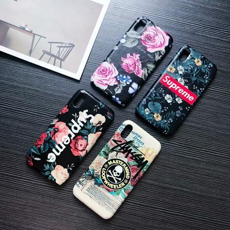 花柄 iPhoneXs maxカバー シュプリーム