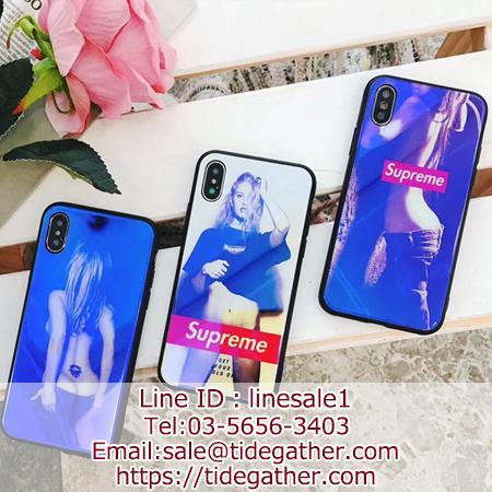 Supreme iPhoneXrケース 背面ガラス