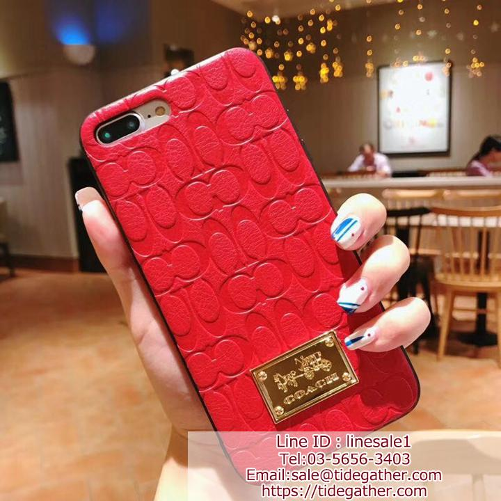 COACH iPhone12 12miniケース 型押し